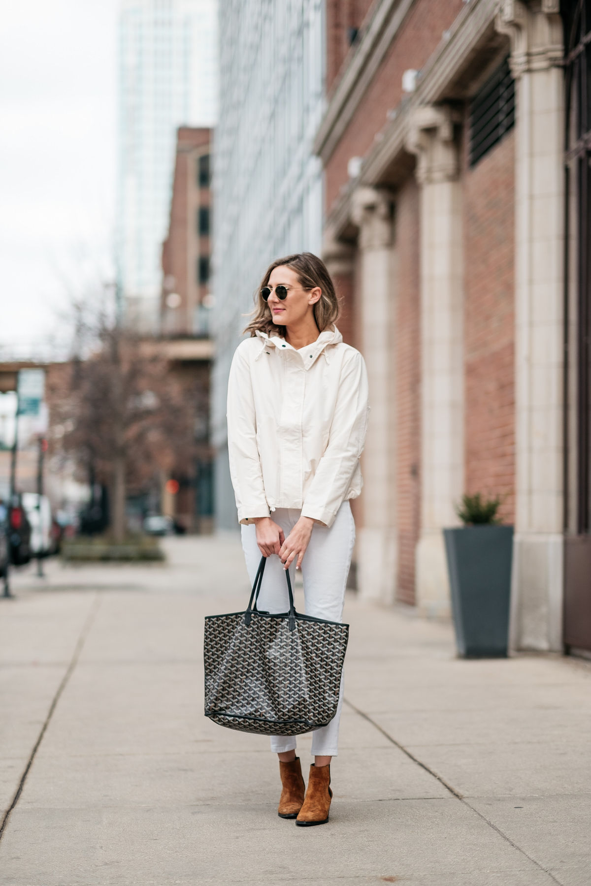 spring white with booties