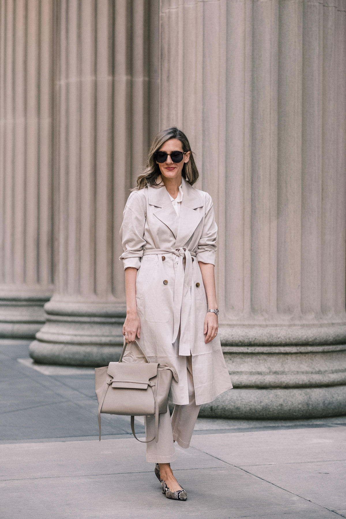 everlane drape trench
