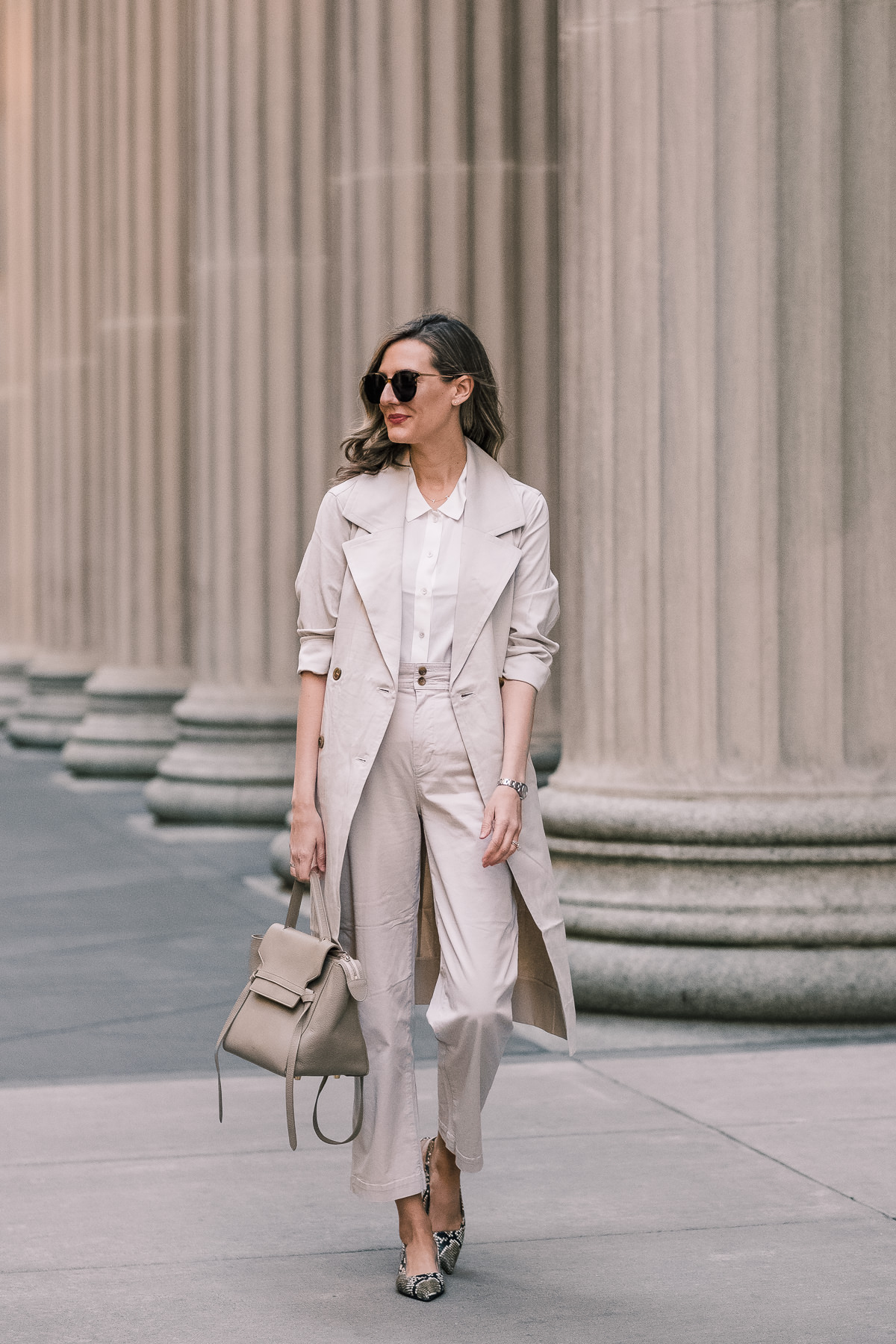 everlane drape trench review