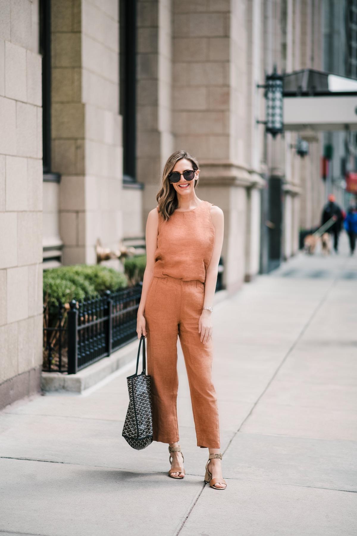 linen jumpsuit sustainable fashion