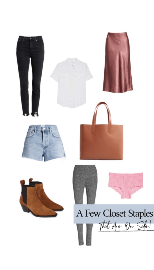 closet staples that are currently on sale