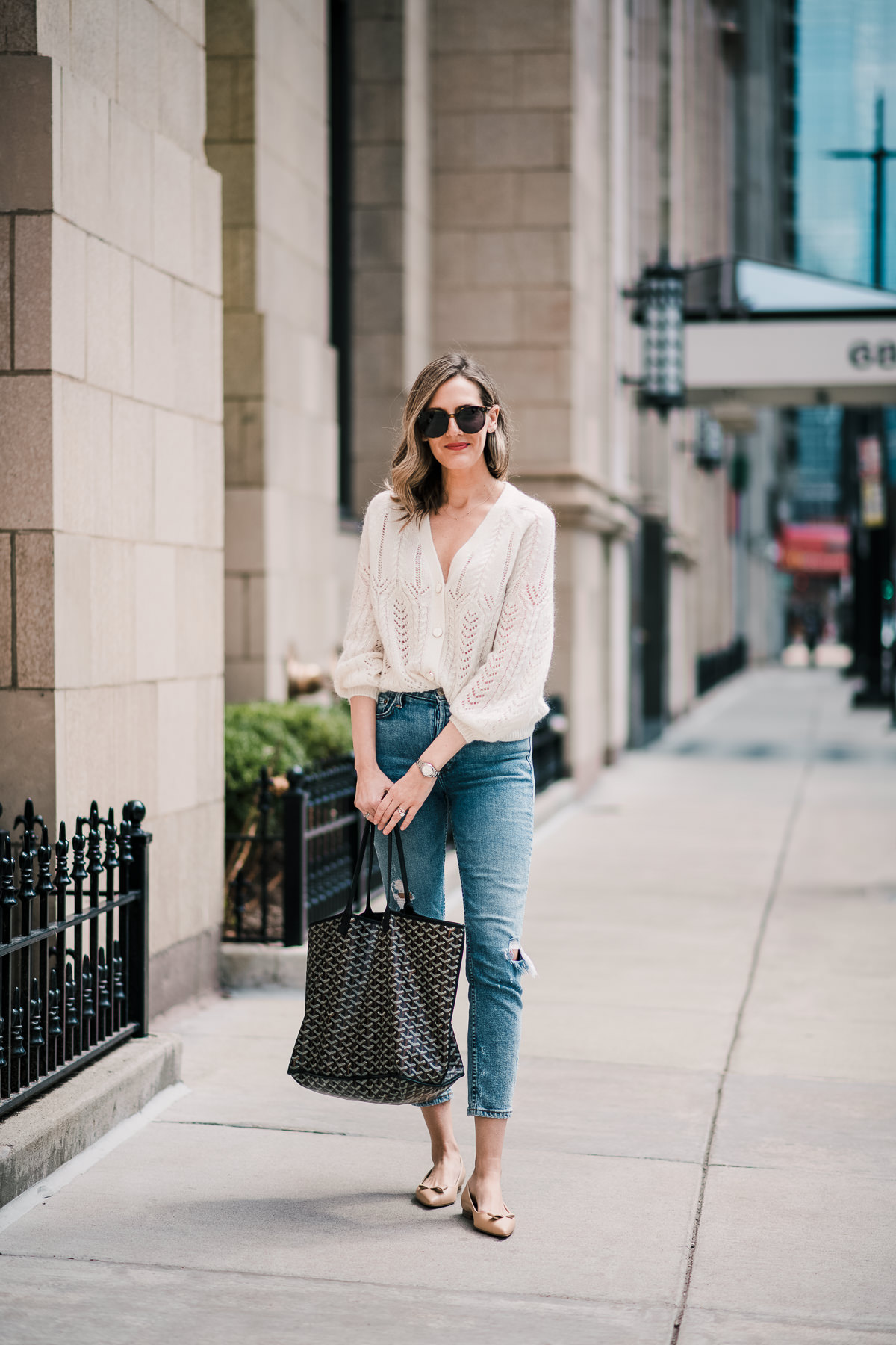 pointy flats with jeans