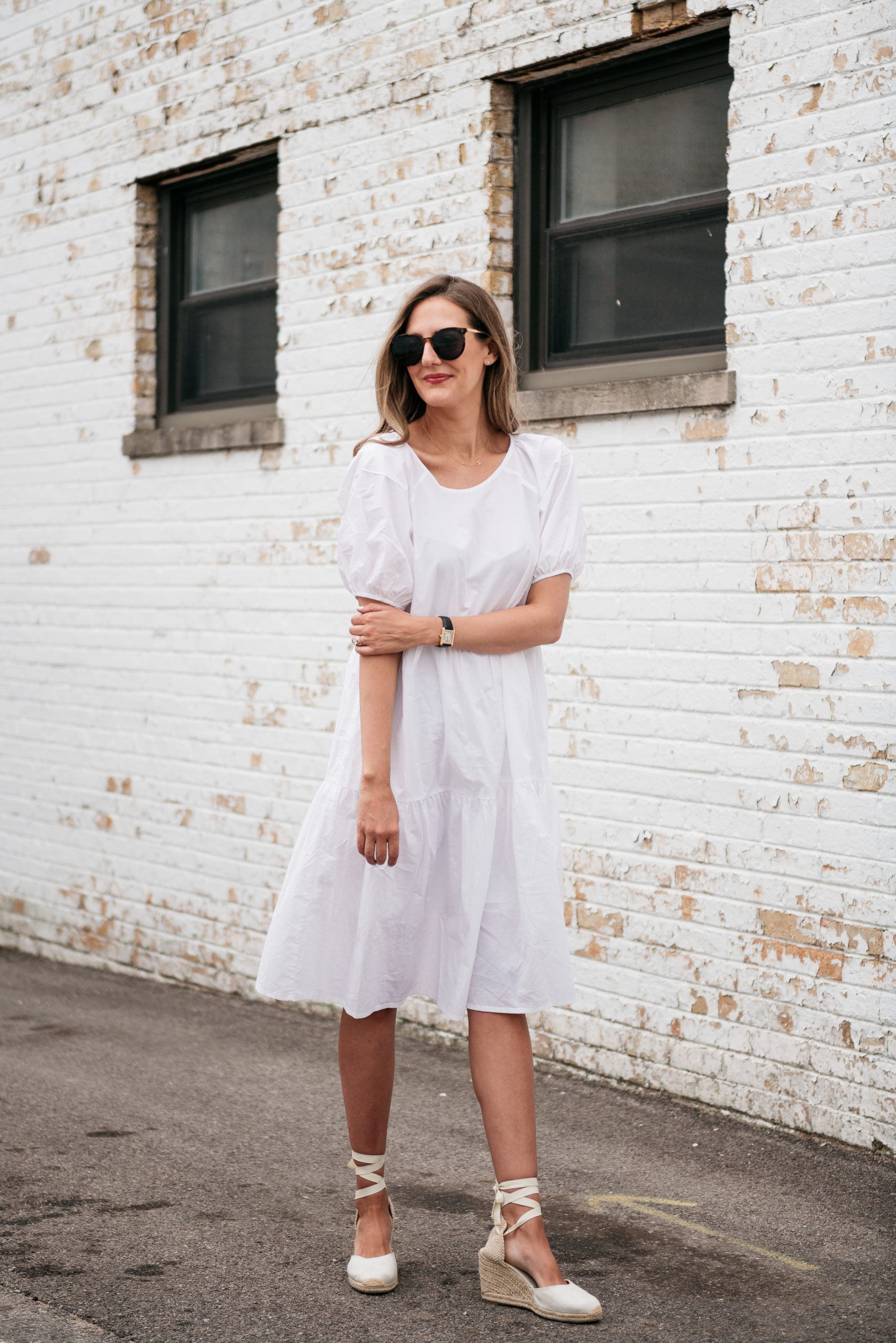 oversized summer dress with espadrilles