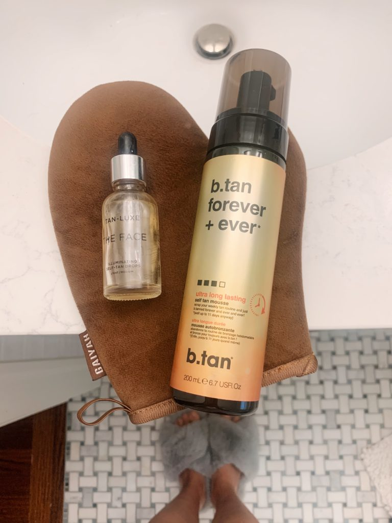self-tanner routine