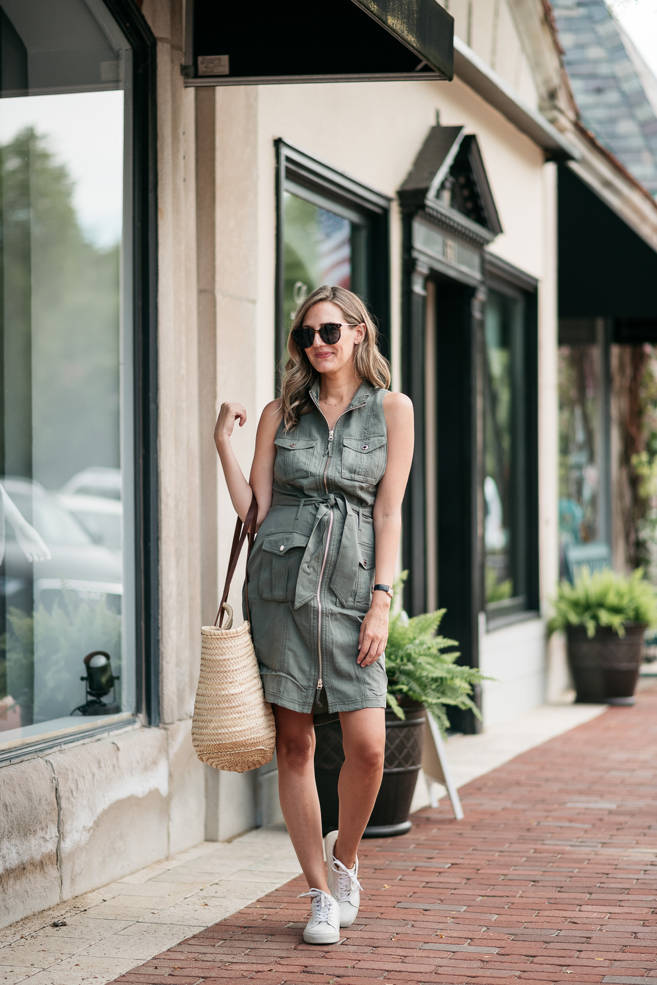 casual summer looks shirt dress