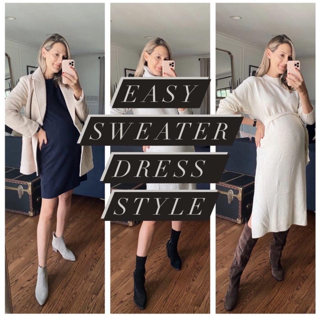 sweater dress outfit ideas