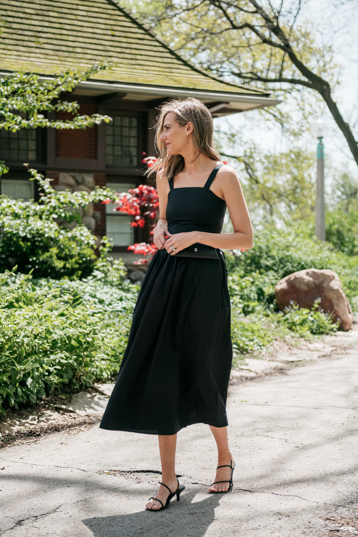 classic black dress style