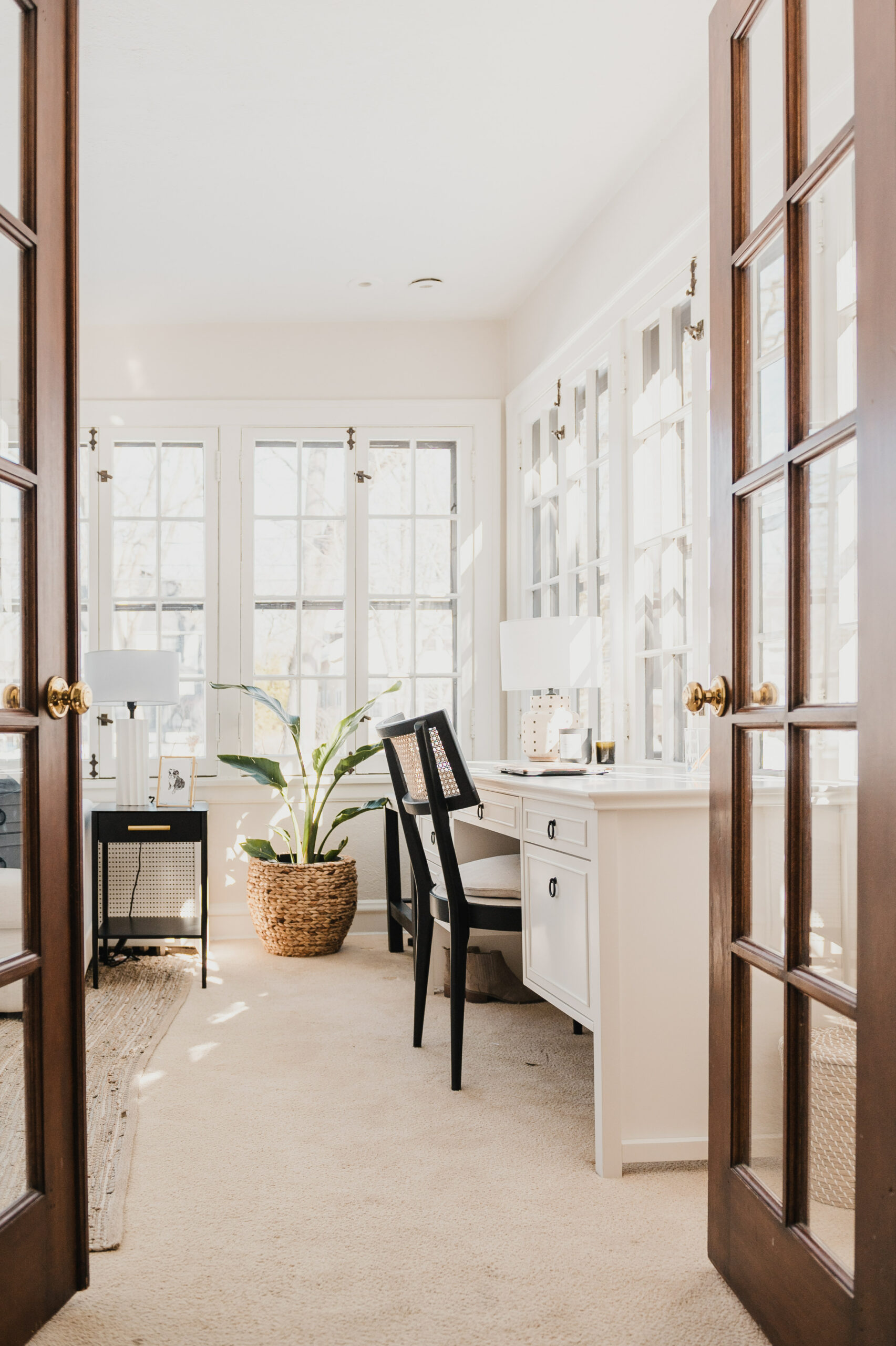 before and after sunroom redesign
