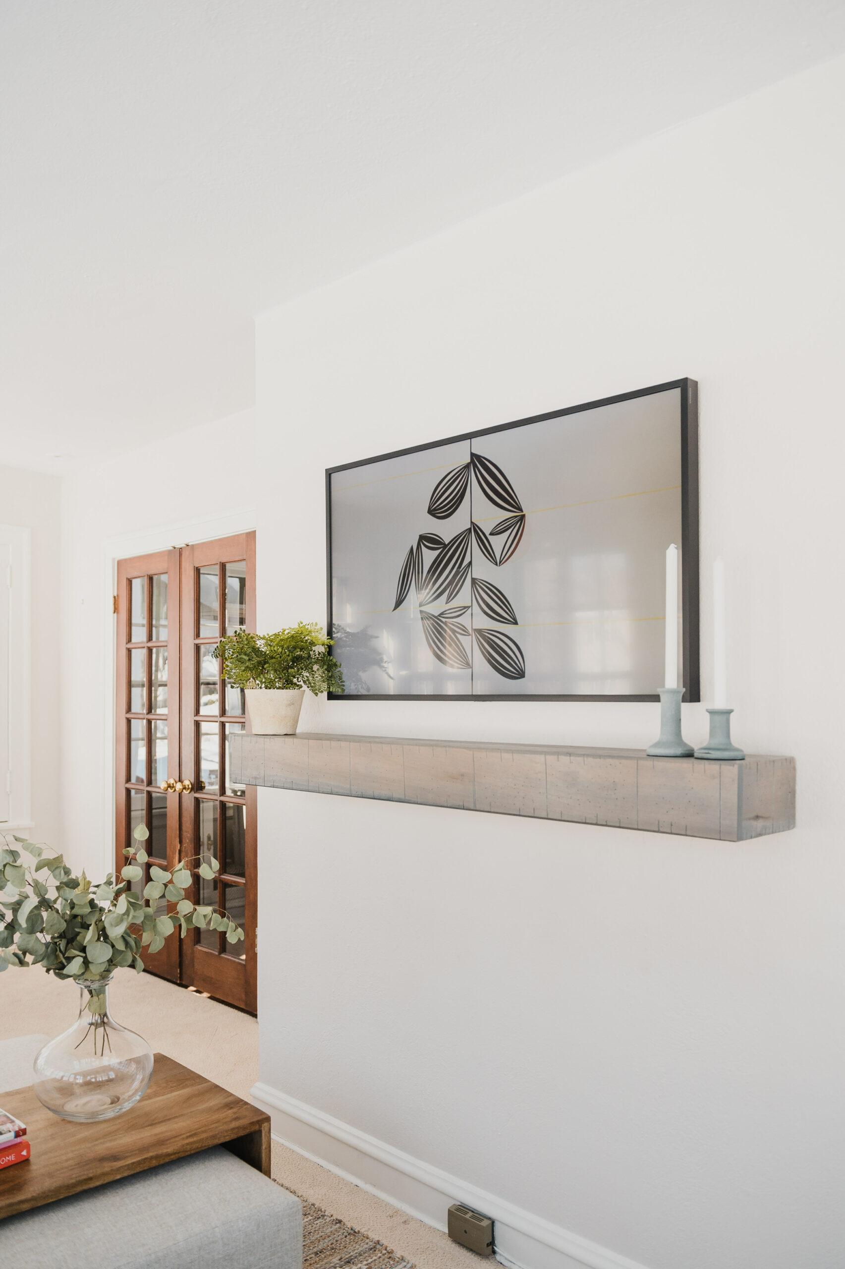 frame tv home office