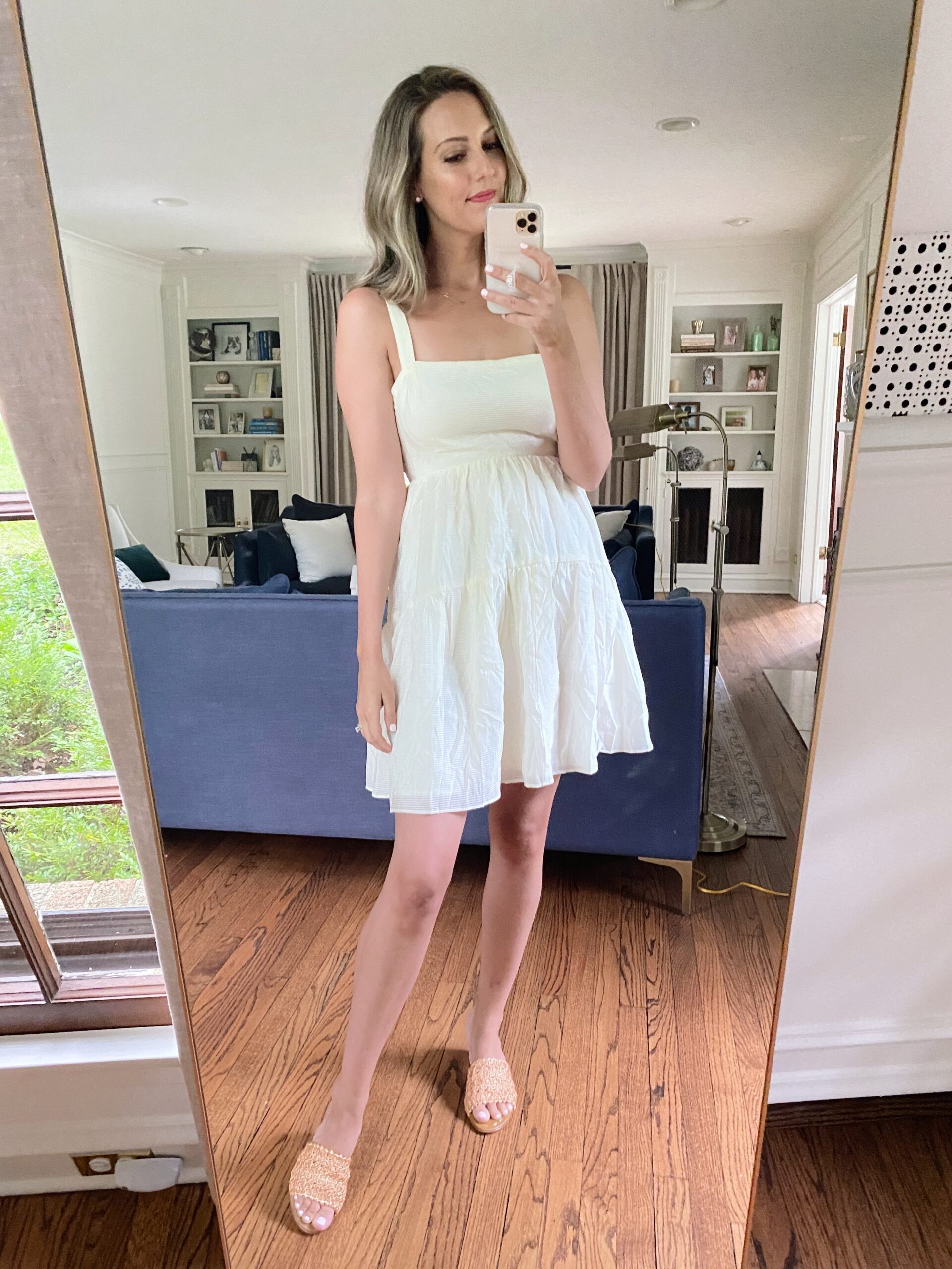 Real Outfit Recap woman wearing white dress